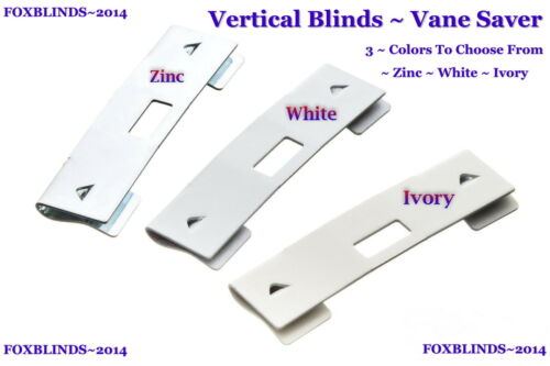 Vertical Blind Repair Vane Saver -3-Colors-ZINC, WHITE, IVORY -Set of 20- $ 7.79
