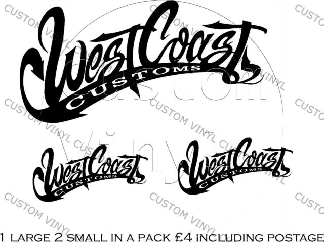 West coast customs vinyl decals x3 wall glass door apply almost anywhere