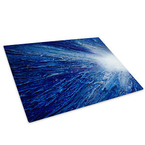 Blue White Glass Chopping Board Kitchen Worktop Saver