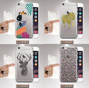 Dettagli su Cover per,Iphone,animali selvatici,silicone,uccelli esotici,TRASPARENTE,natura