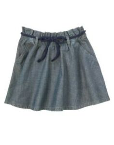 GYMBOREE-PARISIAN-AFTERNOON-CHAMBRAY-BELTED-SKIRT-4-5-6-7-NWT