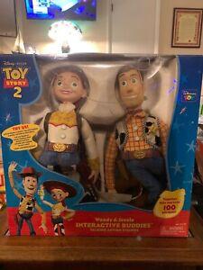 Disney Pixar Toy Story 2 Woody Jessie Interactive Buddies Talking Action Figure