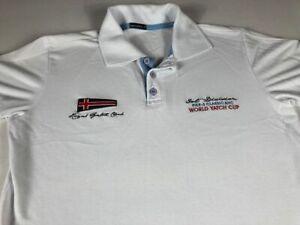 World Yacht Cup Polo Shirt Fits Mens SZ S/M Sailing Royal Garzoni Pier-3 NYC