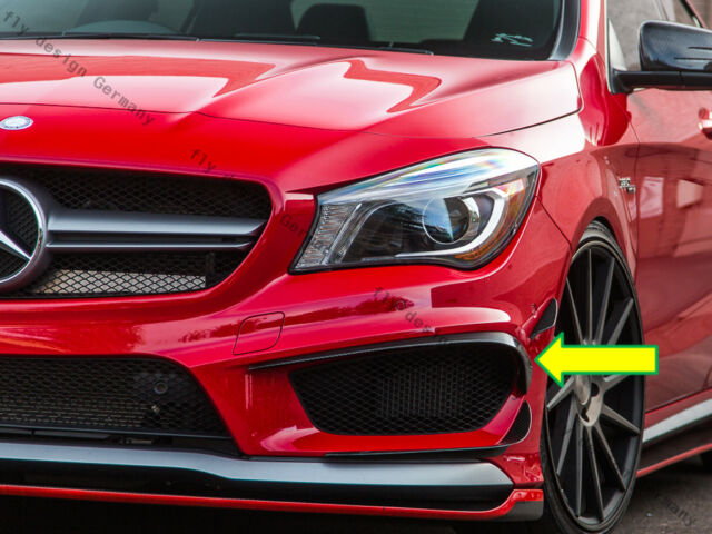 Mercedes Cla Amg Tuning Coupe W117 Front Side Spoiler Flaps Painted