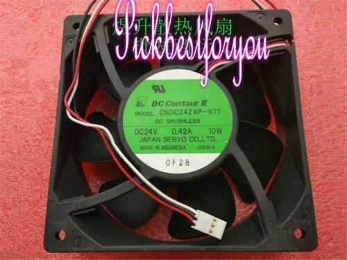 1pc Servo CNDC24Z4P-977 fan 12038 24V 0.42A 3pin #Mi98 QL