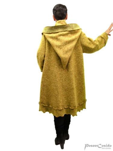 44 46 48 52 54 56 58 L-XL-XXL-XXXL Poco design Lagenlook Walk giacca corta cappotto