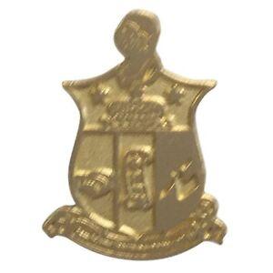 Kappa Alpha Psi Sandblasted Gold Crest Lapel Pin