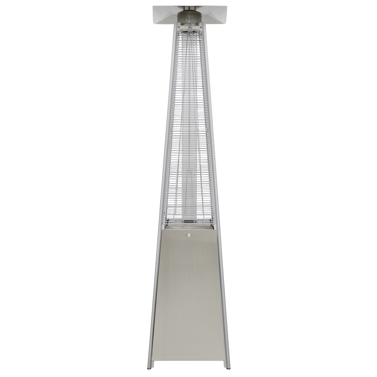 Dellonda Pyramid Gas Patio Heater 13kW Commercial/Garden Use, Stainless Steel