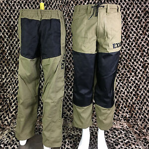 NEW Exalt Throwback Retro Tournament Paintball Pants - Tan/Black - Medium