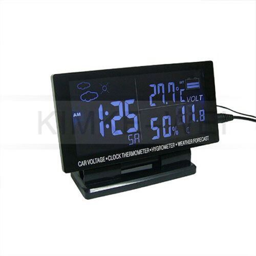 Auto LCD Digital Thermometer//Spannungs-Tester mit Alarm für Auto Neu