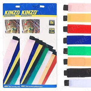 60x Colored Adjustable Nylon Hook Loop Reusable Cable Ties Strap Tidy Organiser