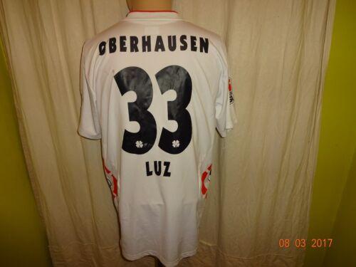 Rouge Blanc Oberhausen Uhlsport matchworn maillot 2008/09 Vatro + Nº 33 Luz Taille L