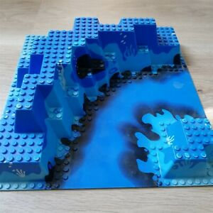 LEGO-PARTS-X1-Baseplate-Raised-32-x-32-Canyon-with-Blue-Underwater-Excellent
