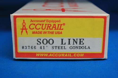 HO Scale ACCURAIL 3766 SOO LINE 41/' AAR Steel Gondola # 67325 KIT