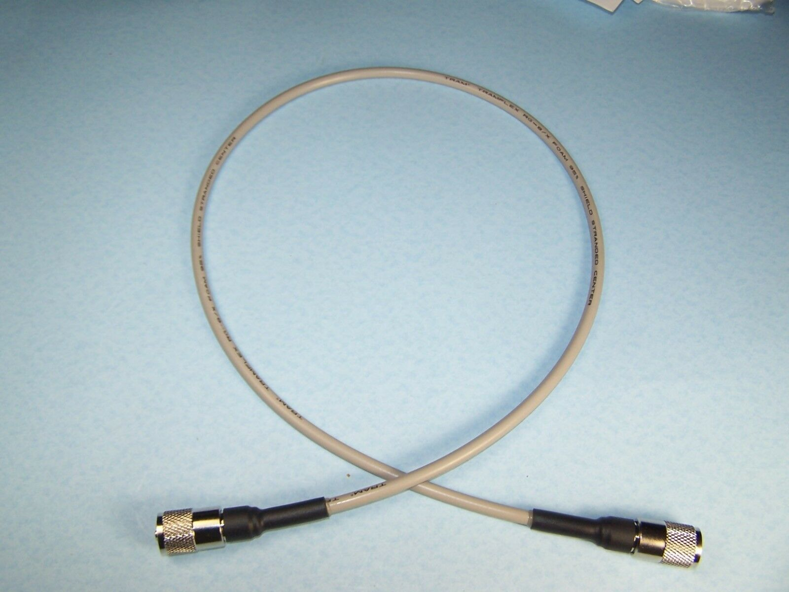 RG-8X-3 texxcomm 2 RG-8X COAX CABLE JUMPER 3 FT FOOT SEALED PL-259s USA MADE PROFESSIONAL CB HAM