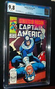 CAPTAIN-AMERICA-374-1990-Marvel-Comics-CGC-9-8-NM-MT-White-Pages