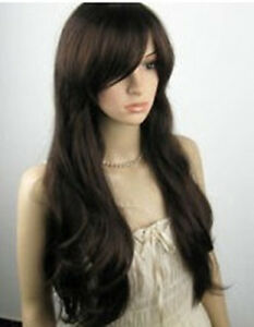 USJF775-New-Dark-Brown-Curly-Lady-Party-Full-Wig-wigs-for-women