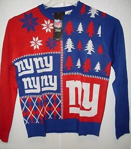official photos 89dea e2c33 Details about NFL New York Giants Busy Block Ugly Sweater Youth Size Youth  Small by FOCO