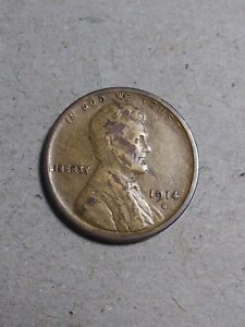 1914-S Lincoln wheat cent//penny rare coin good details