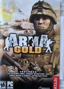 ArmA-Gold-PC-2008-A-manual-and-a-disc-sealed-in-plastic