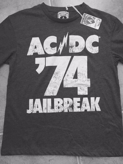 Amplified Amplified Amplified Acdc 1974 Prigione Pausa Tour T-Shirt Uomo S, extra Large 7a9a60