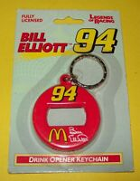 Bill Elliott Vintage Keychain Bottle Can Opener 94 Mcdonald's 1997