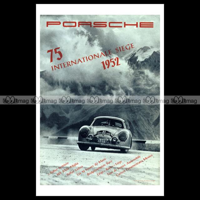 #phpb.000621 Photo INTERNATIONAL SIEGE 1952 PORSCHE 356 Advert Reprint