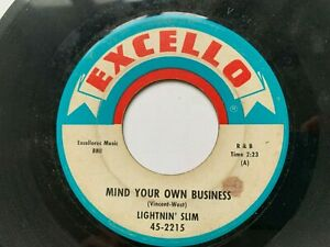 Lightnin-039-Slim-45-034-Mind-Your-Own-Business-034-EXCELLO-2215-Blues-HEAR