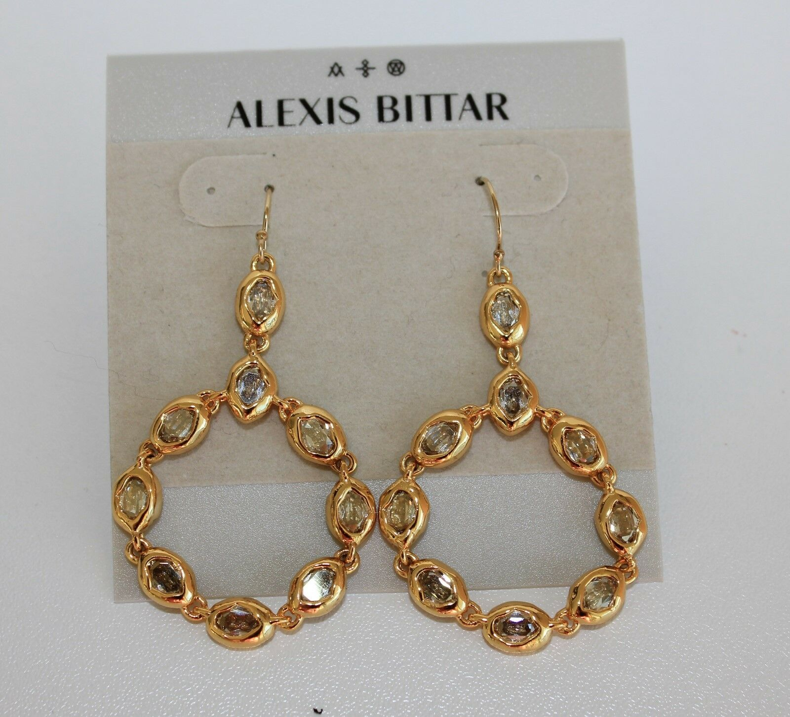 ALEXIS BITTAR Elements Moonlight Crystals Circle Drop Earrings NEW  175