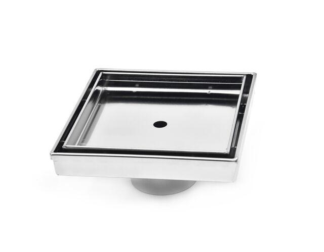 "Square Drain 5/"" fits 4.25/"" tile  316 Stainless Steel Tile Insert Point Drain"