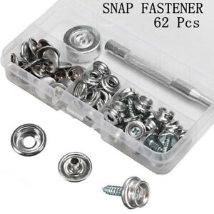 Atv,rv,boat & Other Vehicle Snap Fastener Stainless Steel Canvas Boat Screw Press Stud Boat Tools Kit 75* Marine Hardware