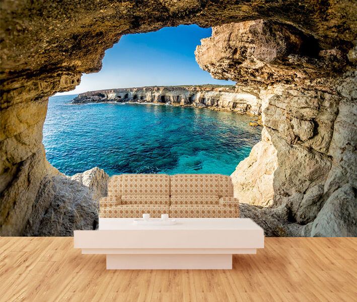 3D Seaside Stone Cave 3022 Paper Wall Print Wall Decal Wall Deco Indoor Murals