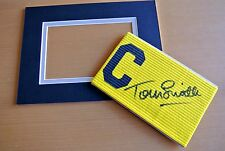 TOMMY SMITH Signed Captains Armband & free mount display LIVERPOOL PROOF & COA