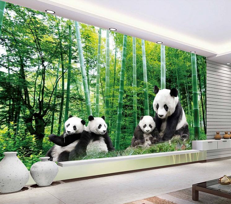 3D Panda Bambus 9807 Tapete Wandgemälde Tapete Tapeten Bild Familie DE Summer  | Speichern  | Stilvoll und lustig  | Nicht so teuer