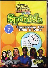 Standard Deviants School Spanish Program 7 Expressing the Time & Date NEW DVD