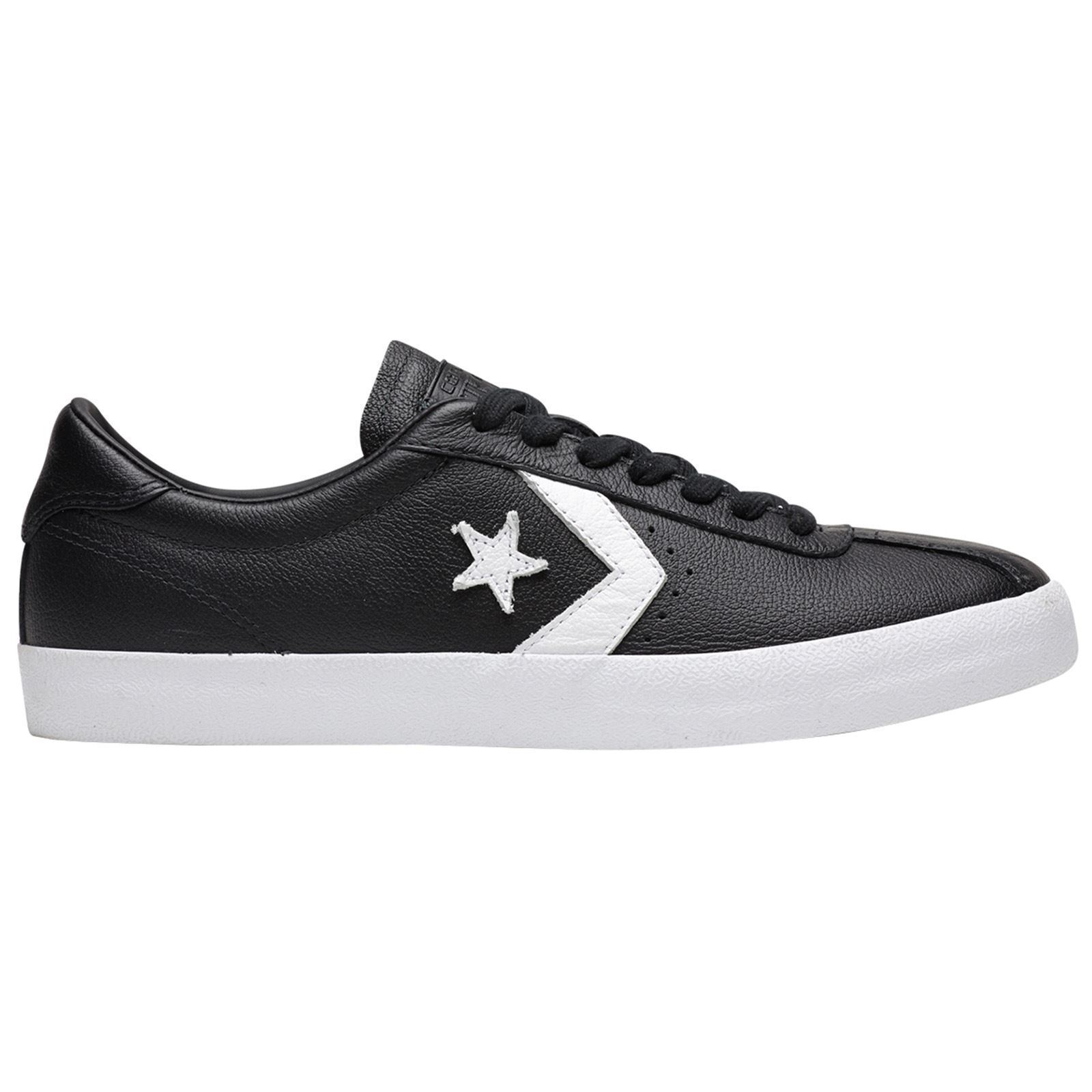 Converse Breakpoint Ox Black White Unisex Leather Retro Low-top Trainers