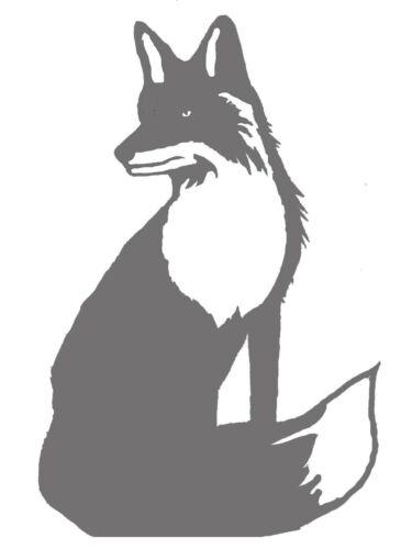 Grand salon Acier Fox weathervane ou signe de profil-Non peinte 850 mm x 440 mm