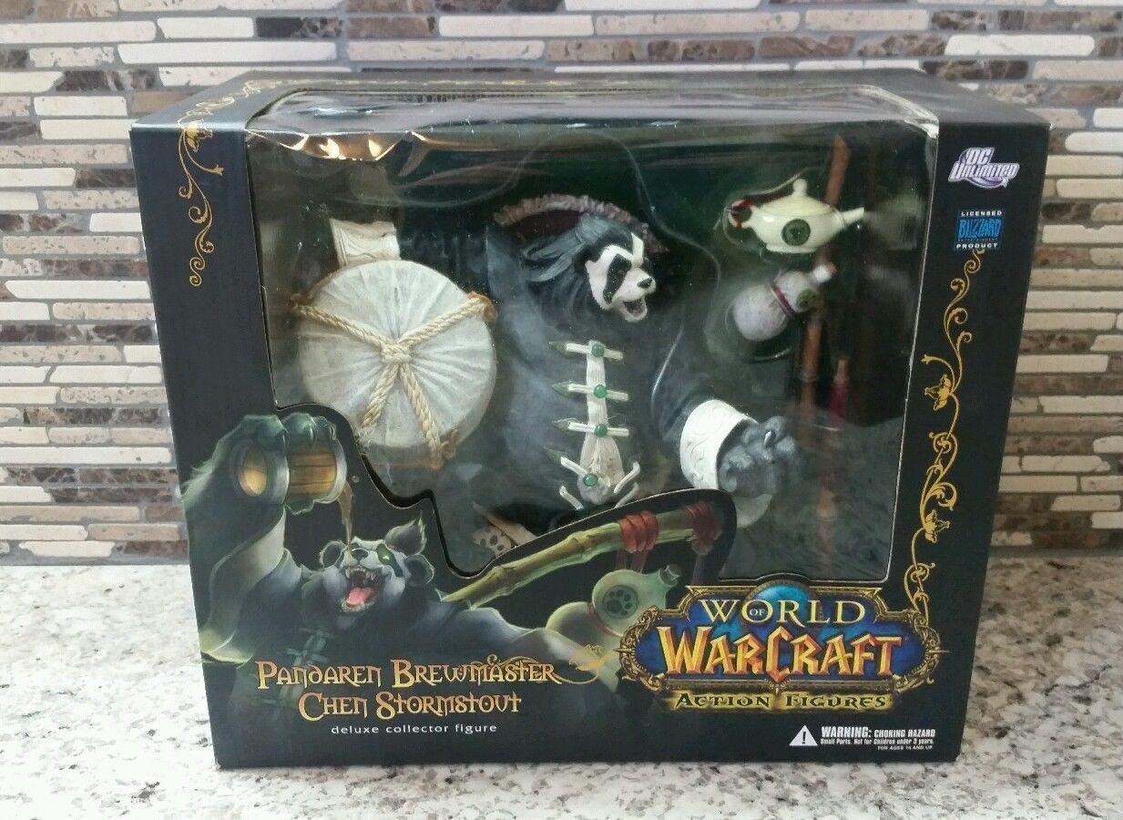 NEW World Of Warcraft Pandaren Brewmaster Chen Stormstout Deluxe 8.5  Figure