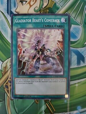 X3 YUGIOH GLADIATOR BEAST/'S COMEBACK CHIM-EN056 COMMON 1ST NM