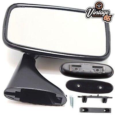 Classic Car MG MGB Triumph Ford Jaguar Mini Tex Style Black Door Mirror LH