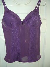 Women's Native Intimates Purple Bra/Camisole Top (Size 36B)