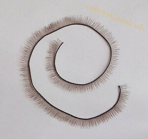 Brown-Eyelash-For-Reborn-Baby-Doll-BJS-SD-Baby-doll-parts-20cm-length-6mm-wide