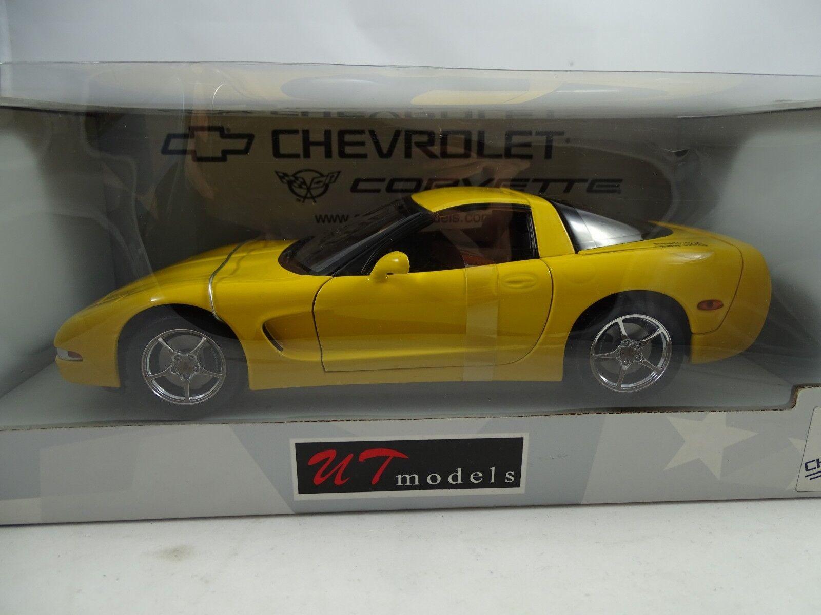 1 18 UT  AUTOART  21101 Chevrolet Corvette Coupe 2000 Millenium jaune Rarity §  prix bas tous les jours