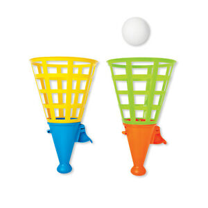 56fe3ceb66b Children s Giant Click   Catch Twin Ball Outdoor Garden Toy Fun Game ...