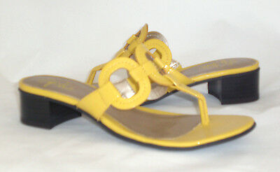 Life Stride Meridith thong sandals YELLOW 10 Med NEW