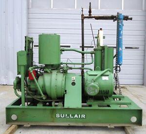 New John Deere Air Compressors Models For Sale Bridgeport >> Details About Sullair Corp Screw Air Compressor Model 25 100h 100hp