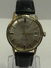 'Emperor' Gold Plated Vintage Automatic Watch - Leather Strap - Excellent Cond