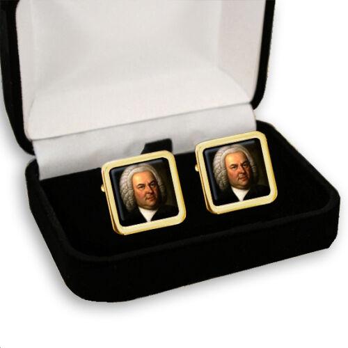 Johann Sebastian Bach Compositor Men/'s Cufflinks Regalo Grabado