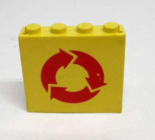 Lego muro panel 4x4 amarillo con pegatinas 4215ap08 set 6693