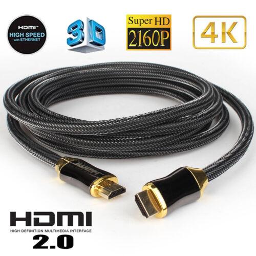 Ultra High Speed HDMI v2.0 Cable 3D 2160P 4K X2K HDR 240Hz 4:4:4 18Gbps HDTV lot